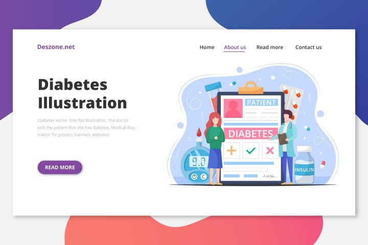 Diabetes Vector Free Flat Illustration