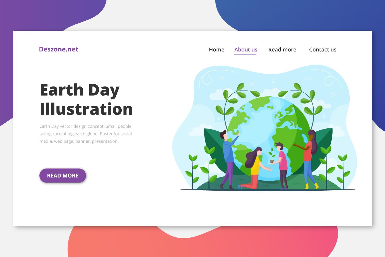 Earth Day Vector Design Concept