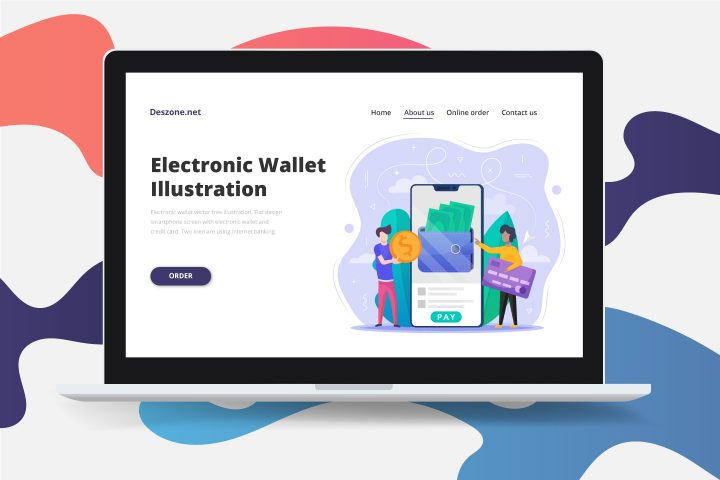 Electronic Wallet Vector Free Illustration