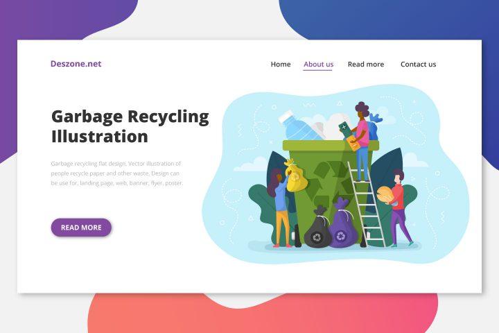 Garbage Recycling Flat Design