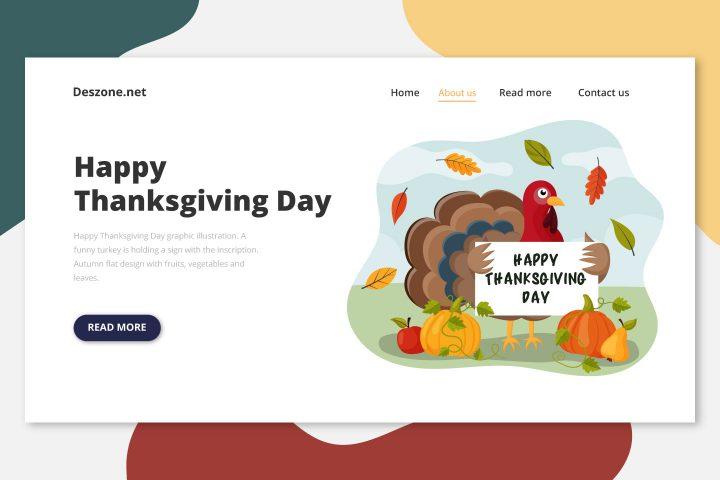 Happy Thanksgiving Day Graphic Illustration