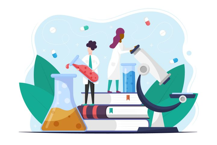 Medical Research Vector Free Illustration