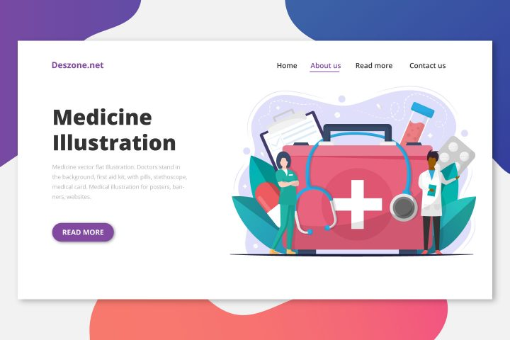 Free Medicine Vector Flat Illustration
