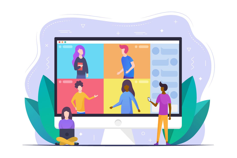 Online Conference Vector Design Concept