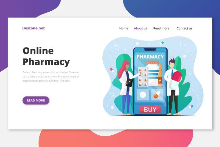 Online Pharmacy Vector Concept Design