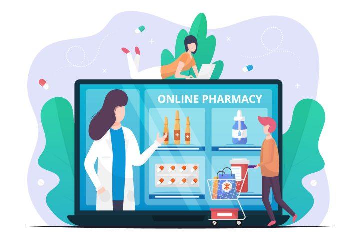 Online Pharmacy Vector Flat Design