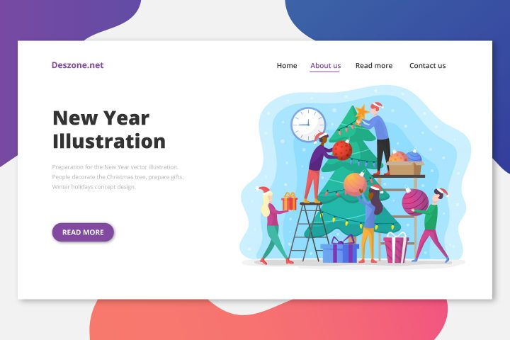 Preparation for the New Year Vector Illustration