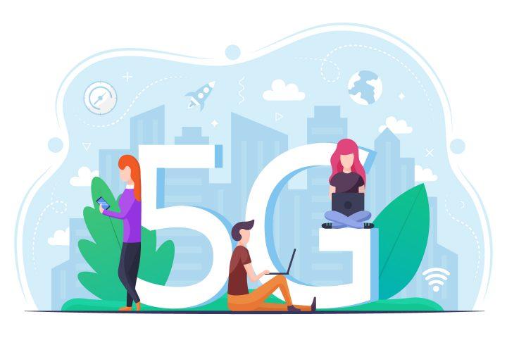 5G Internet Vector Design Concept