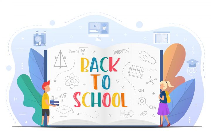 Back to School Vector Design with Kids