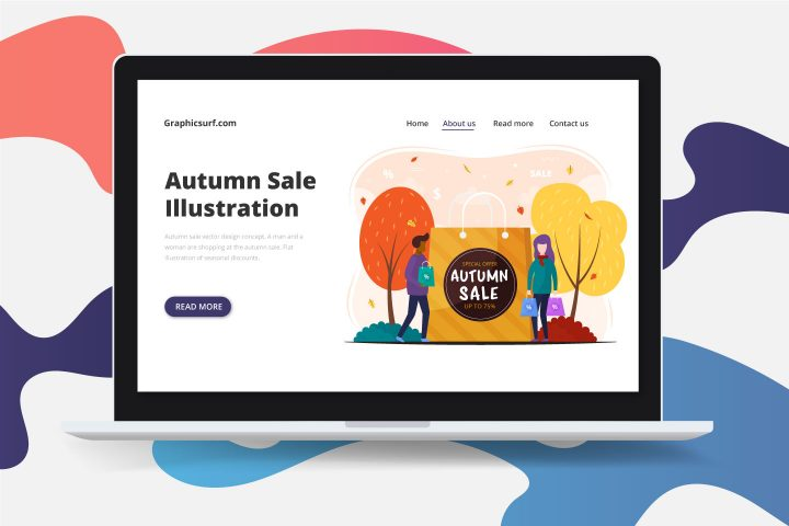 Autumn Sale Vector Design Concept