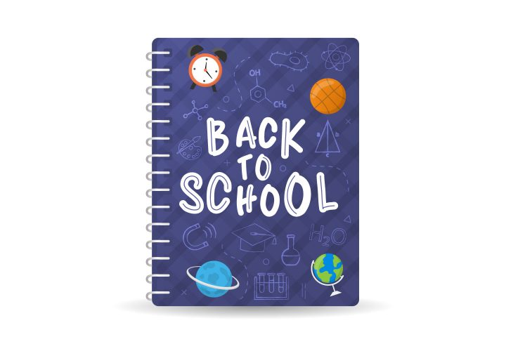 Back to School Notebook Free Vector Illustration