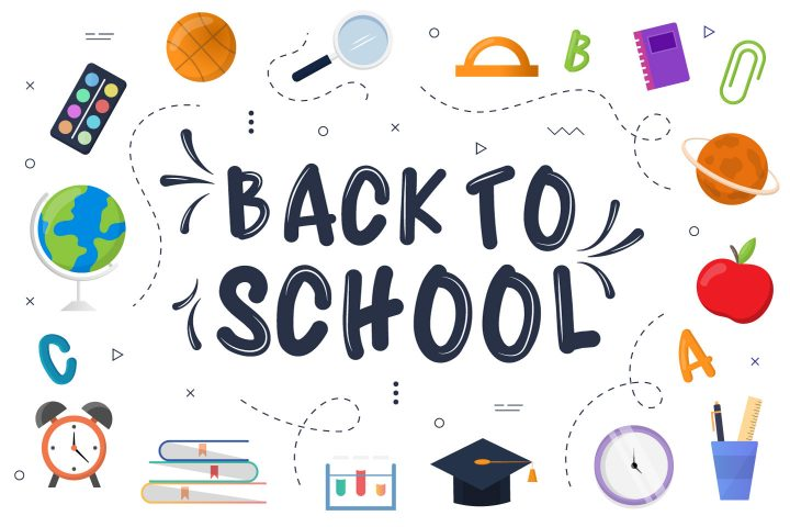 Free Vector Graphic Design of Back to School