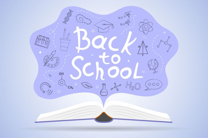 Back to School Free Vector Design Illustration
