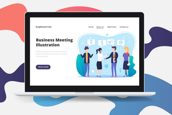 Business Meeting Vector Free Illustration