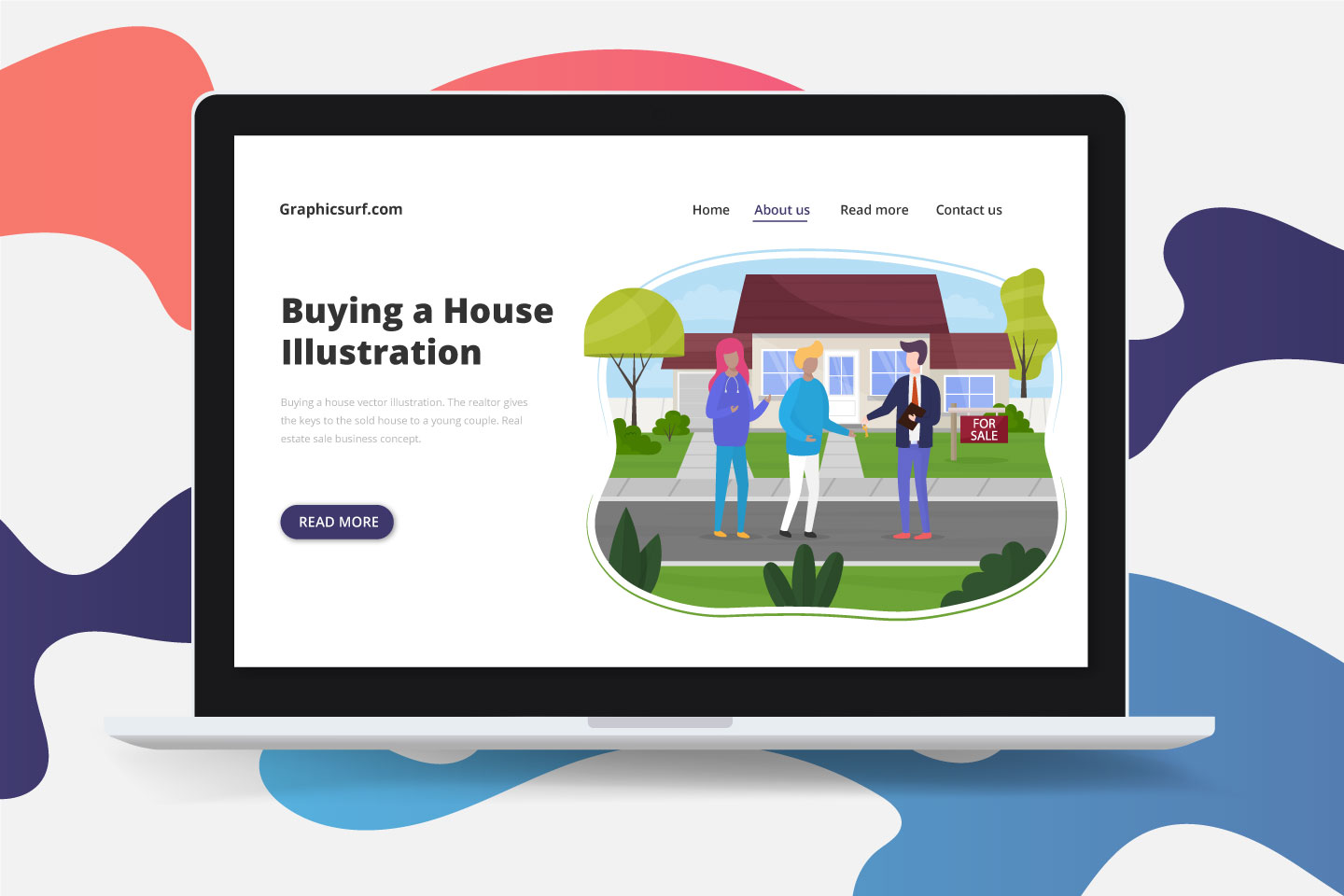 Buying a House Vector Illustration