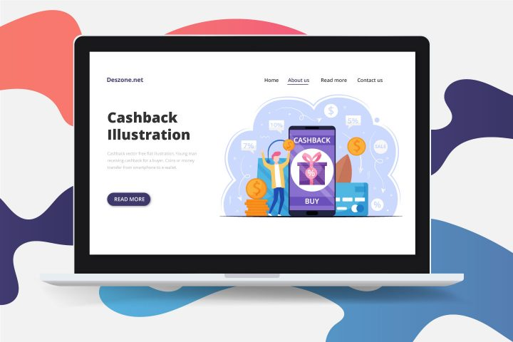Cashback Vector Free Flat Illustration