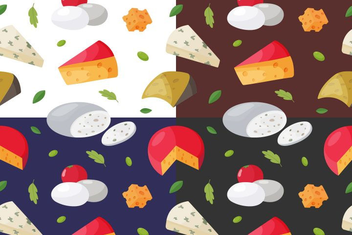 Cheese Vector Free Seamless Pattern