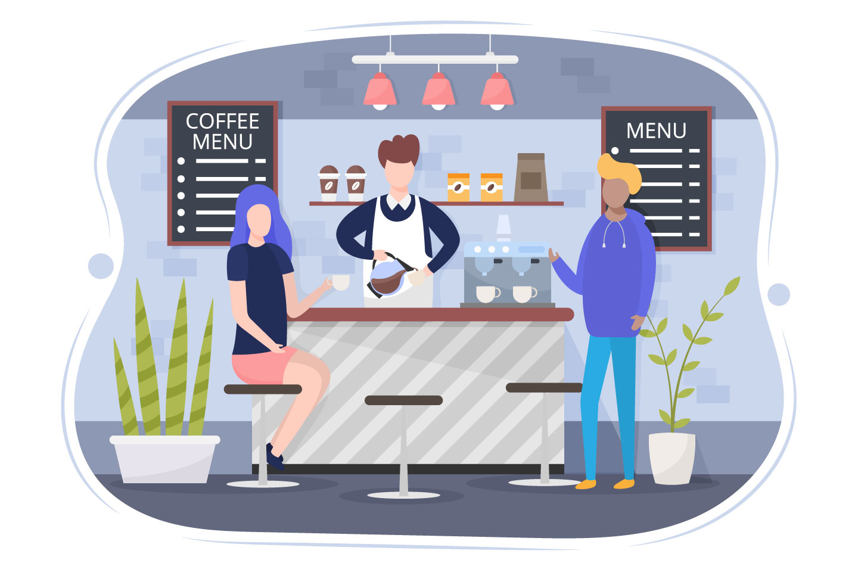 Coffee Shop Vector Illustration