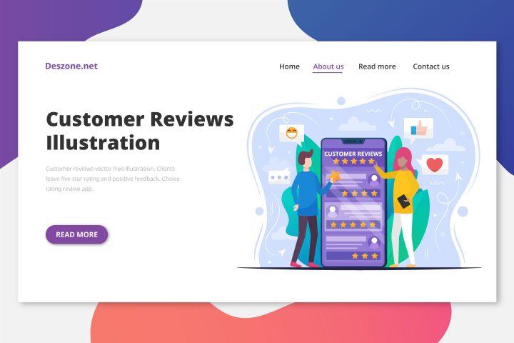 Customer Reviews Vector Free Illustration