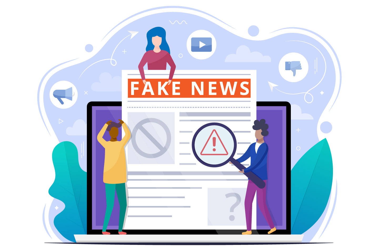 Fake News Flat Illustration