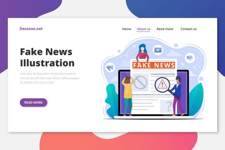 Fake News Flat Illustration