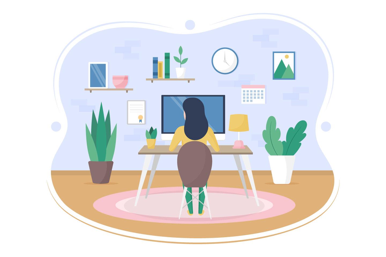 Home Office Vector Concept Design