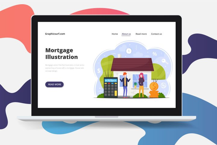 Mortgage Vector Free Flat Illustration