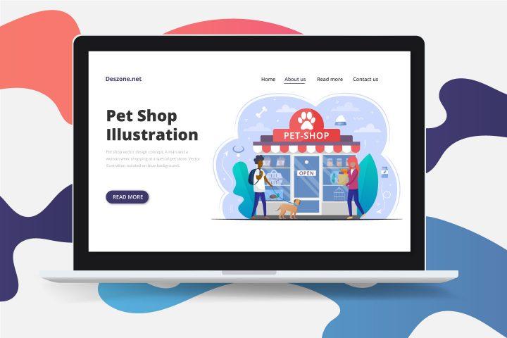 Free Vector Illustration Pet Shop