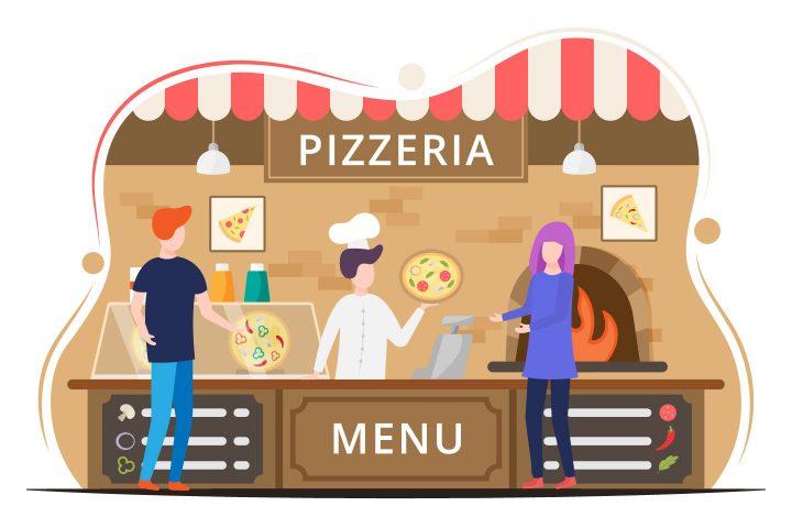 Pizzeria Vector Design Illustration