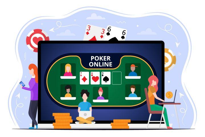 Poker Online Vector Free Illustration