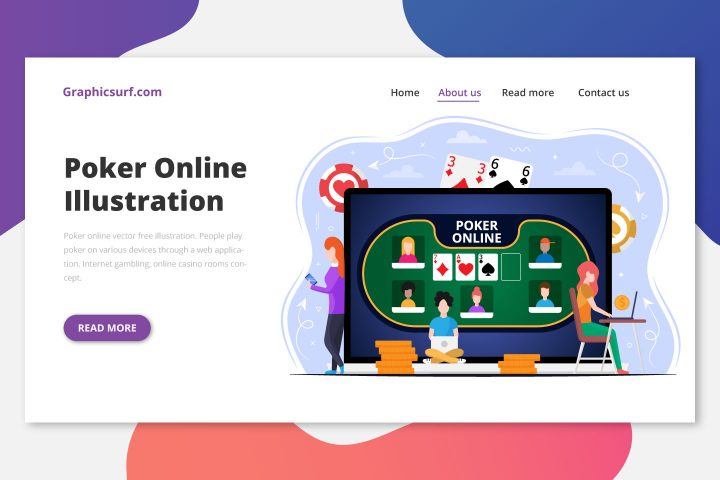 Poker Online Vector Free Illustration