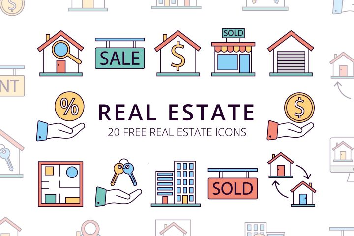 Real Estate Vector Free Icon Set