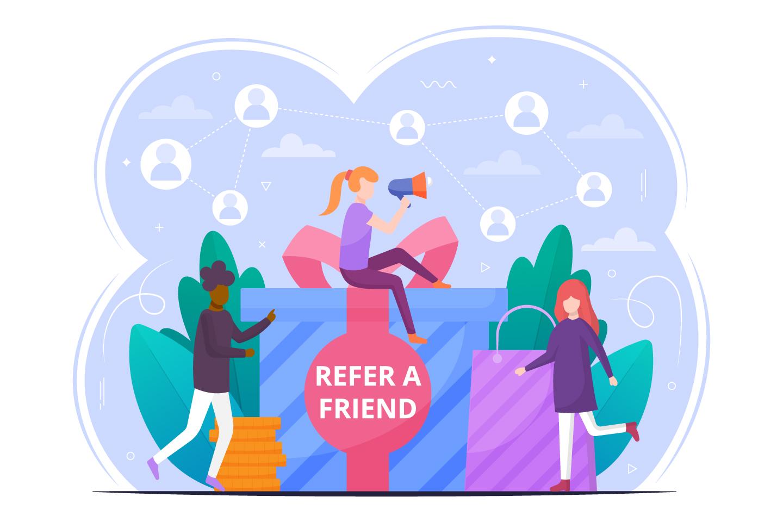 Refer a Friend Vector Design Concept