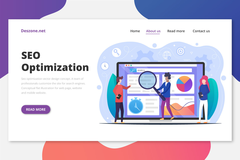 Seo Optimization Vector Design Concept