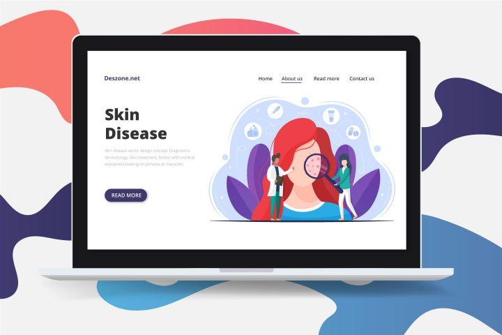 Skin Disease Vector Design Concept