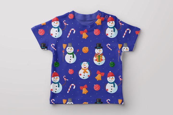 Snowmen Vector Free Seamless Pattern