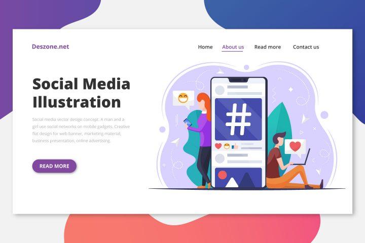 Social Media Vector Design Concept