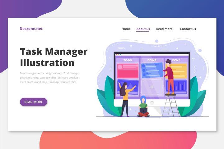 Task Manager Vector Design Concept