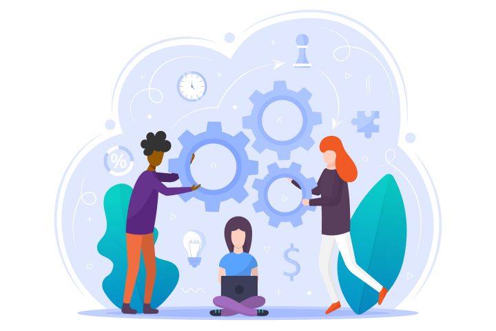 Teamwork Vector Free Flat Illustration