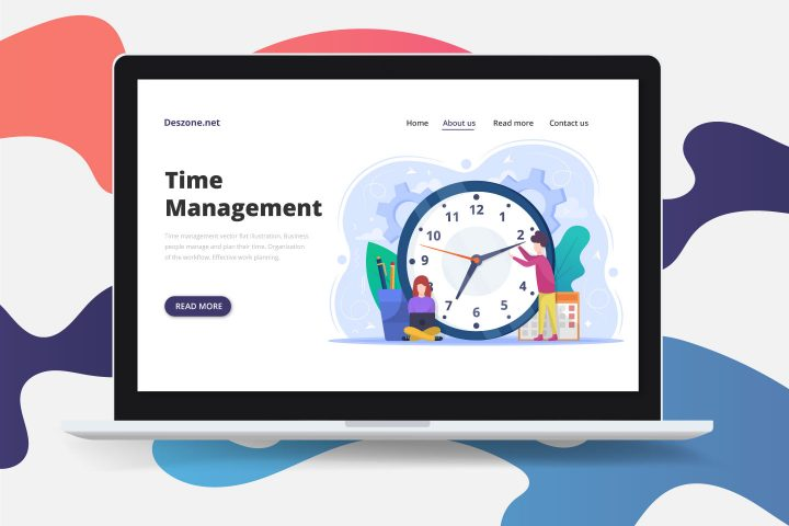 Free Vector Flat Illustration Time Management