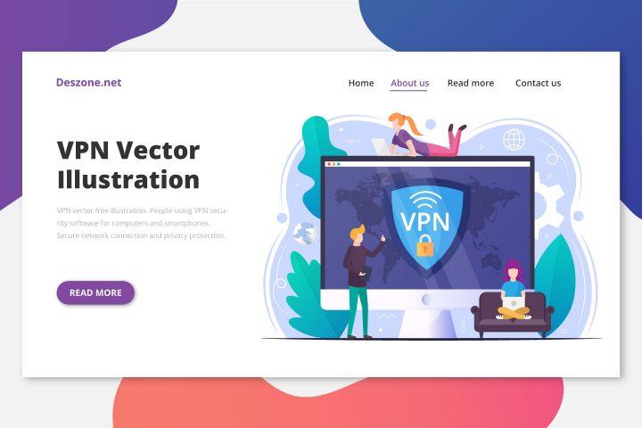 VPN Vector Free Illustration