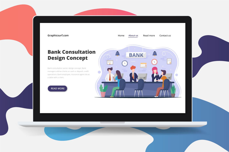 Bank Consultation Vector Design Concept
