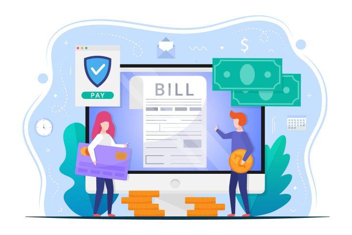 Bill Payment Vector Design Concept
