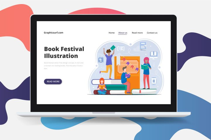 Book Festival Vector Free Design Concept