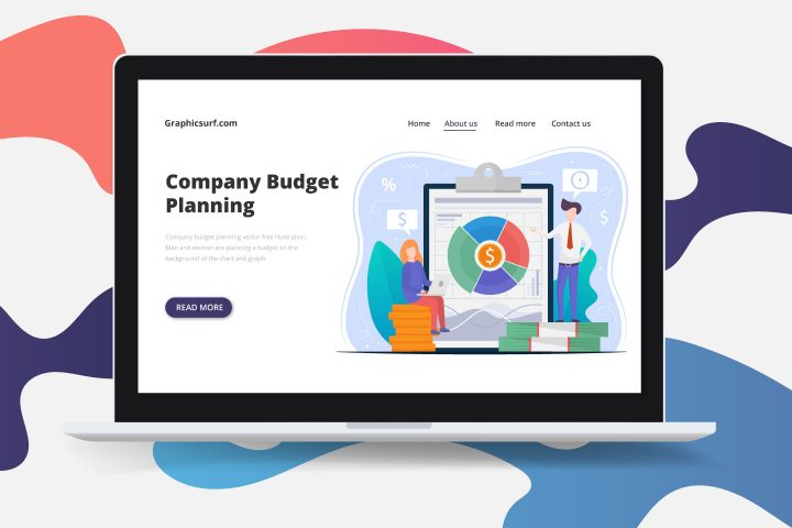 Company Budget Planning Vector Free Illustration