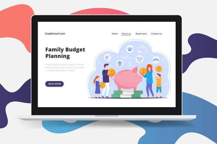 Family Budget Planning Flat Illustration