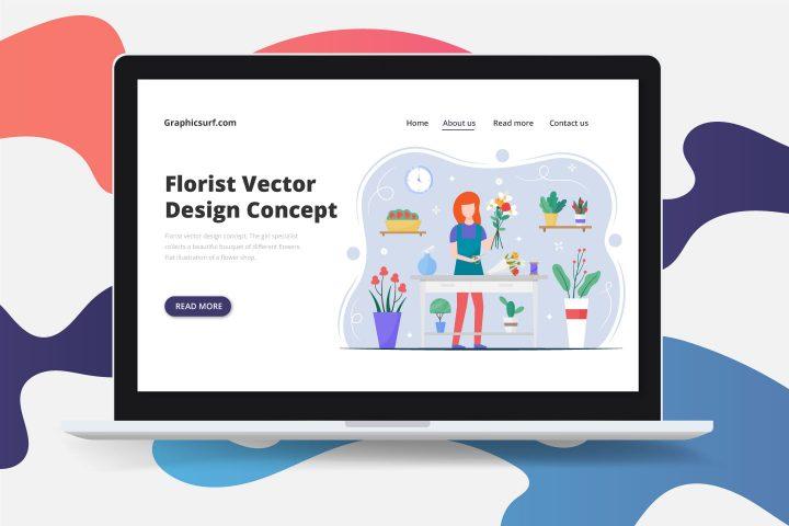 Florist Vector Design Concept