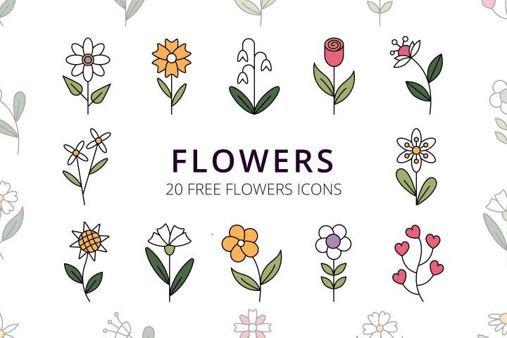 Flowers Vector Free Icon Set