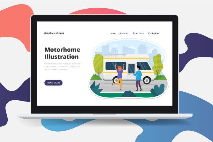 Motorhome Free Vector Illustration