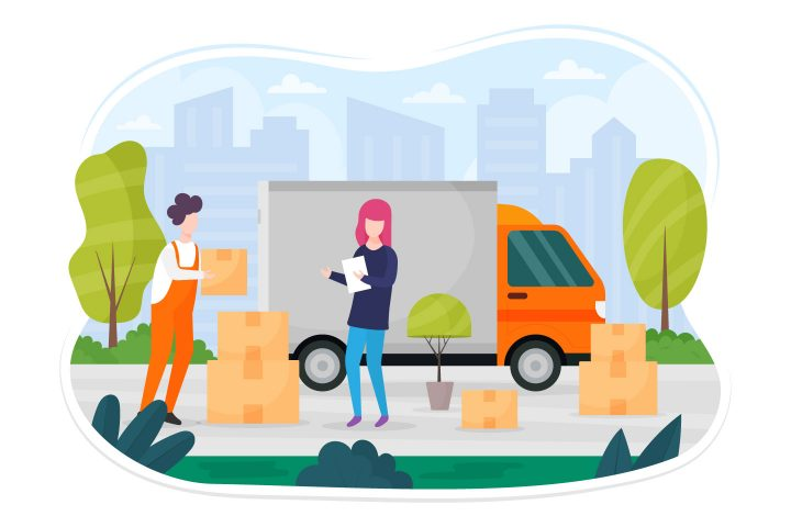 Moving Assistance Vector Illustrations